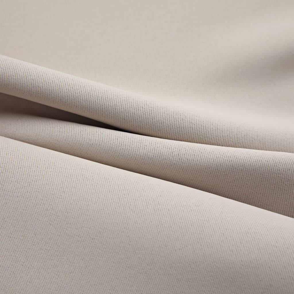 vidaXL Draperie opacă cu inele metalice, bej, 290 x 245 cm