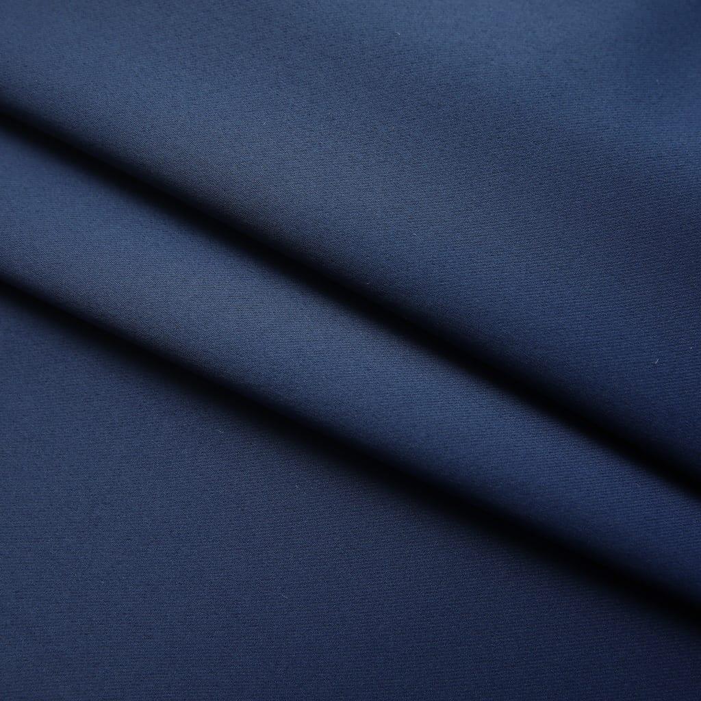 vidaXL Draperii opace cu cârlige, 2 buc., albastru, 140 x 175 cm