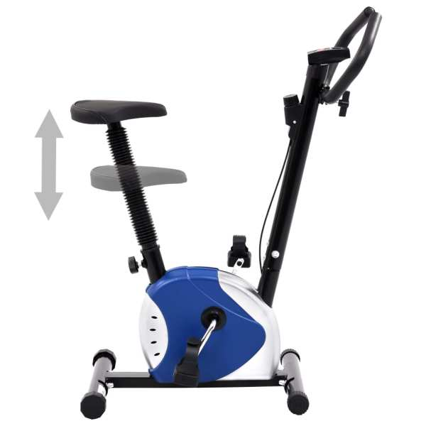 vidaXL Bicicletă de fitness cu curea de rezistență, albastru