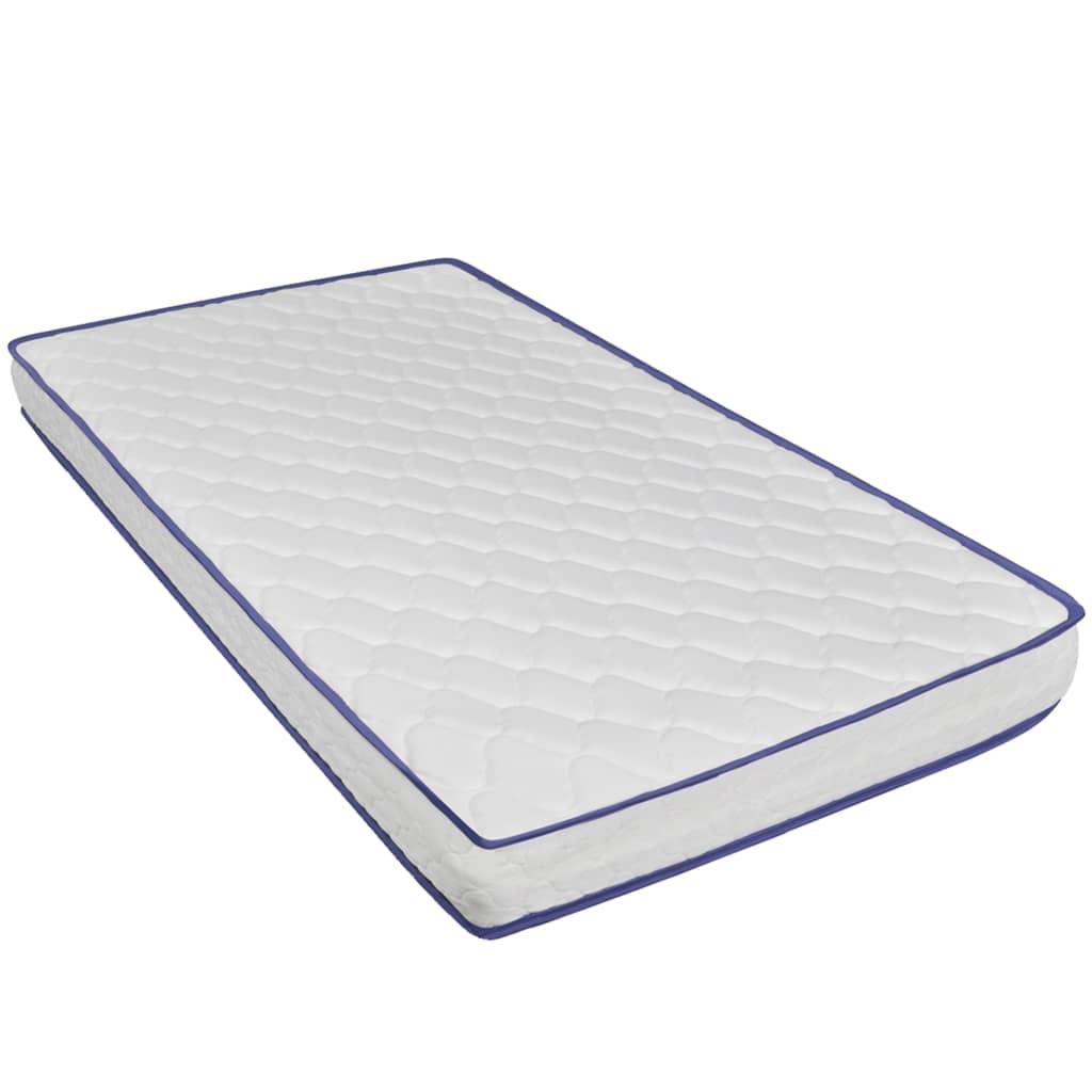 vidaXL Pat cu saltea din spumă memorie, gri, 120×200 cm, catifea