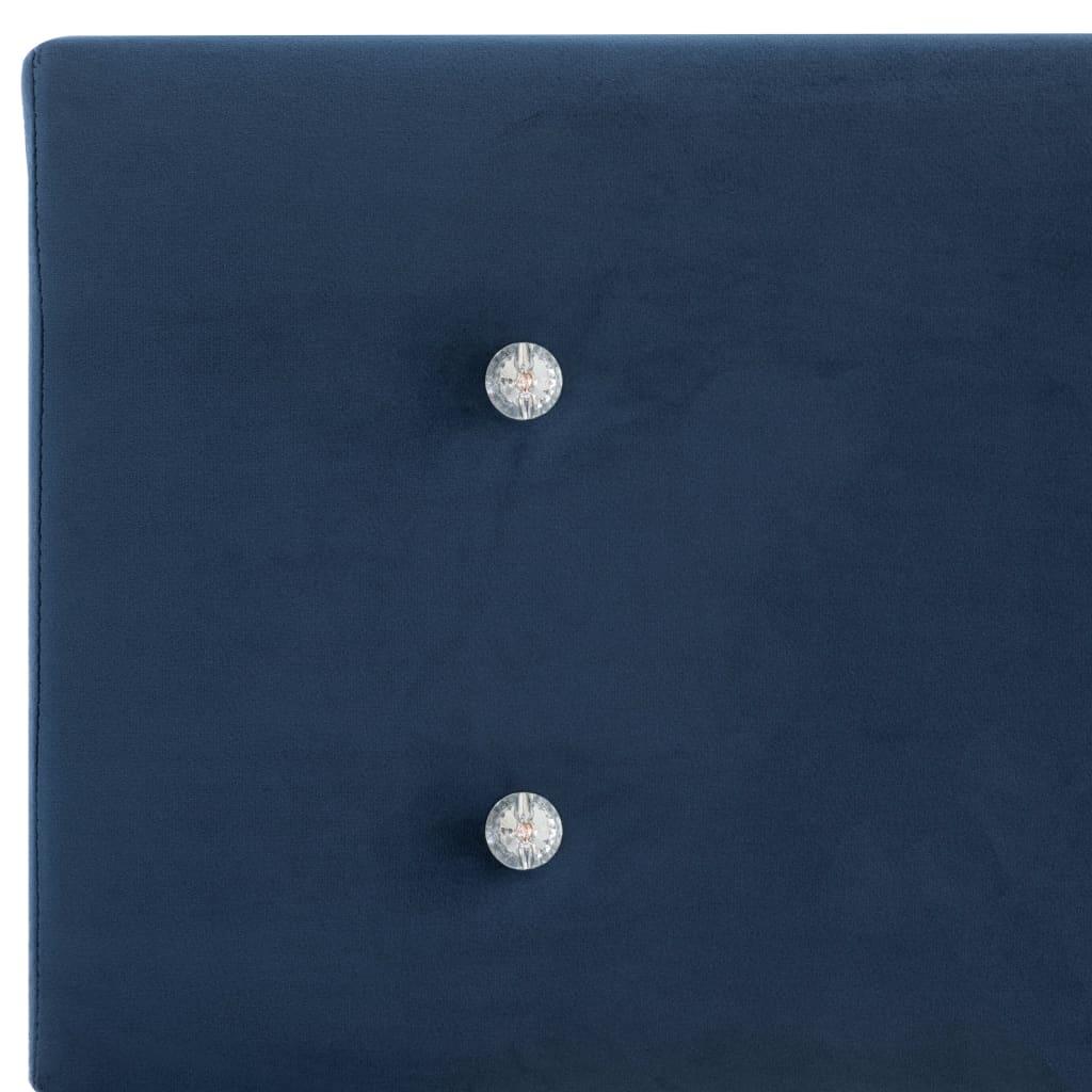 vidaXL Pat cu saltea din spumă cu memorie albastru 120x200cm catifea