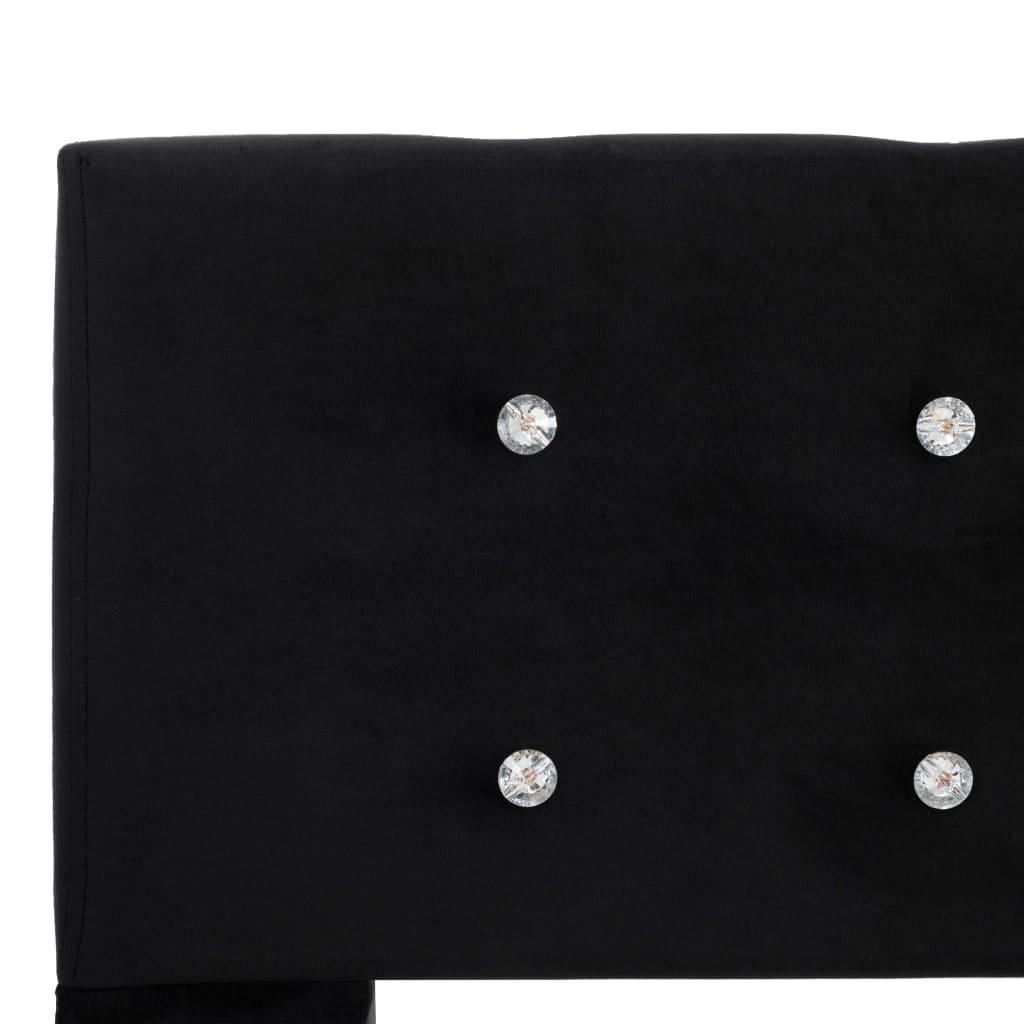 vidaXL Pat cu saltea, negru, 140 x 200 cm, catifea