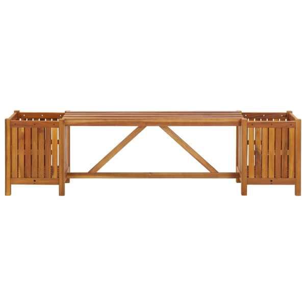 vidaXL Bancă de grădină cu 2 jardiniere, 150x30x40 cm, lemn de acacia