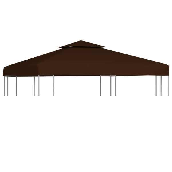 vidaXL Acoperiș pavilion cu 2 niveluri, maro, 3 x 3 m, 310 g/m²