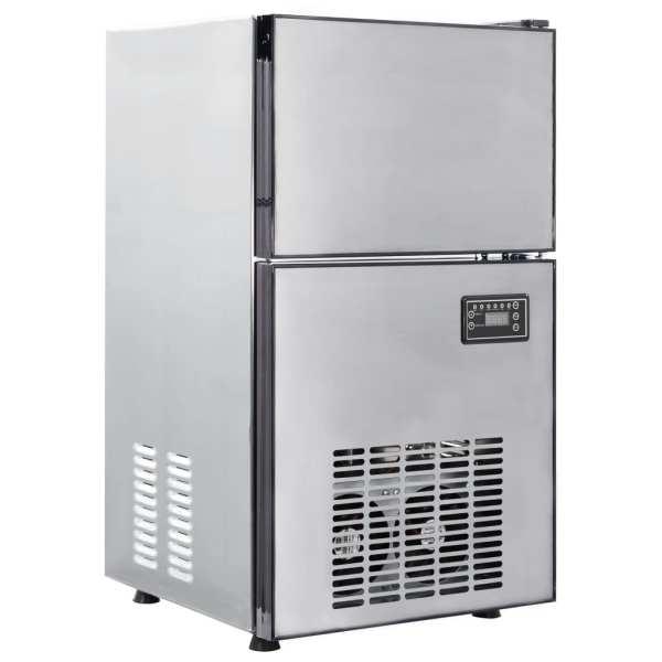 vidaXL Aparat de făcut cuburi de gheață, 420 W, 50 kg / 24 h