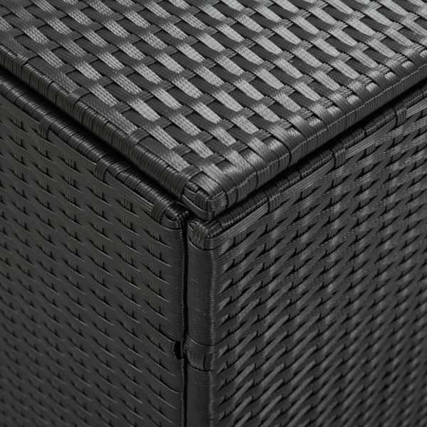 vidaXL Ladă de depozitare de grădină, negru, 180x90x75 cm, poliratan