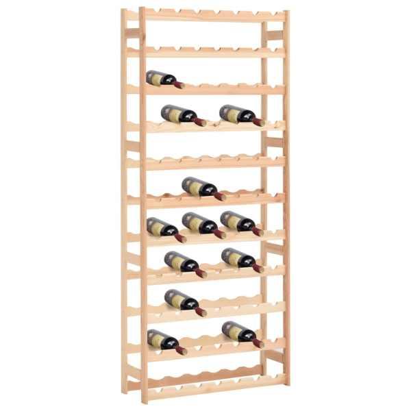 vidaXL Suport pentru sticle de vin, 77 sticle, lemn de pin