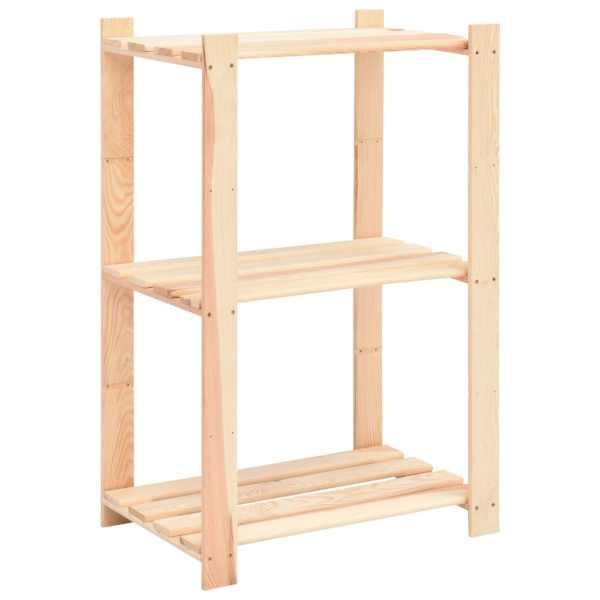 vidaXL Raft depozitare 3 niveluri, 60x38x90 cm lemn masiv pin, 150 kg