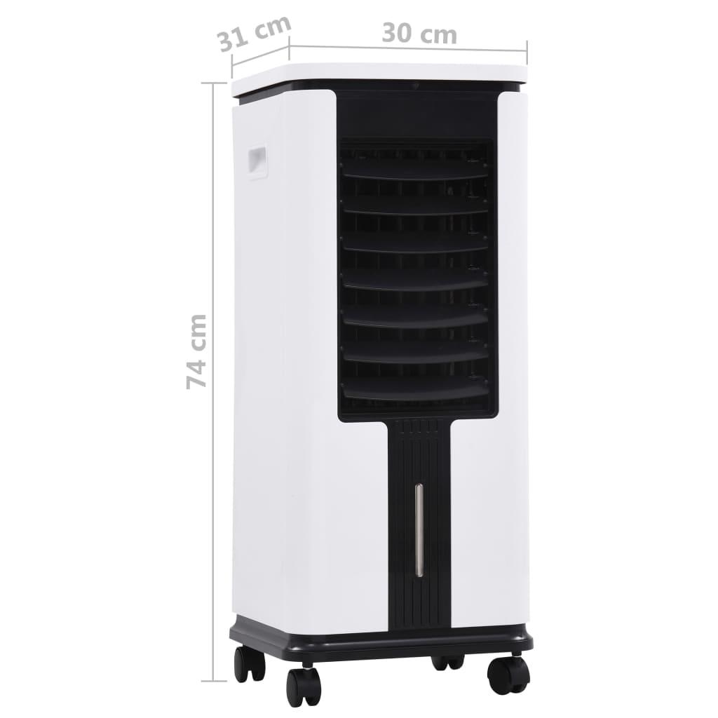 vidaXL Răcitor, umidificator, purificator de aer mobil, 3-în-1, 75 W