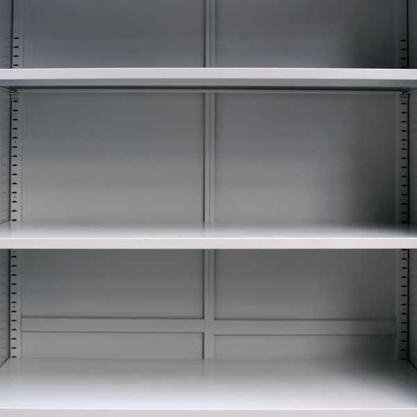 vidaXL Dulap de birou cu 2 uși, gri, 90 x 40 x 180 cm, oțel