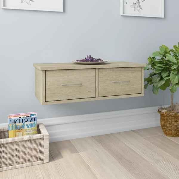 vidaXL Dulap de perete cu sertare, stejar Sonoma, 60x26x18,5 cm, PAL