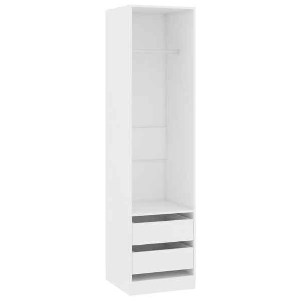 vidaXL Șifonier cu sertare, alb, 50 x 50 x 200 cm, PAL