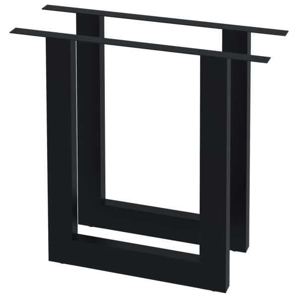Picioare de masă cu cadru în O, 2 buc., 80 x 72 cm