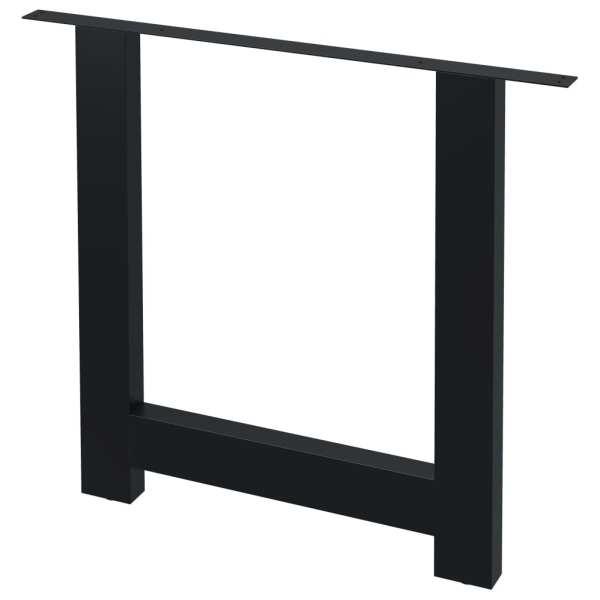 vidaXL Picioare de masă cu cadru în formă de H, 2 buc., 80 x 72 cm