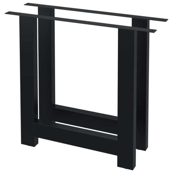 Picioare de masă cu cadru în formă de H, 2 buc., 80 x 72 cm
