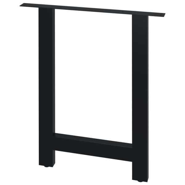 Picioare de masă cu cadru în formă de H, 2 buc., 70 x 72 cm