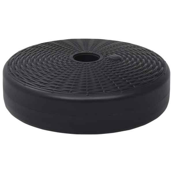 vidaXL Suport de umbrelă, negru, 24 L, umplere cu nisip/apă
