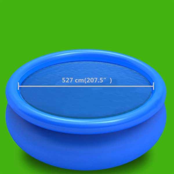 vidaXL Prelată de piscină, albastru, 527 cm, PE