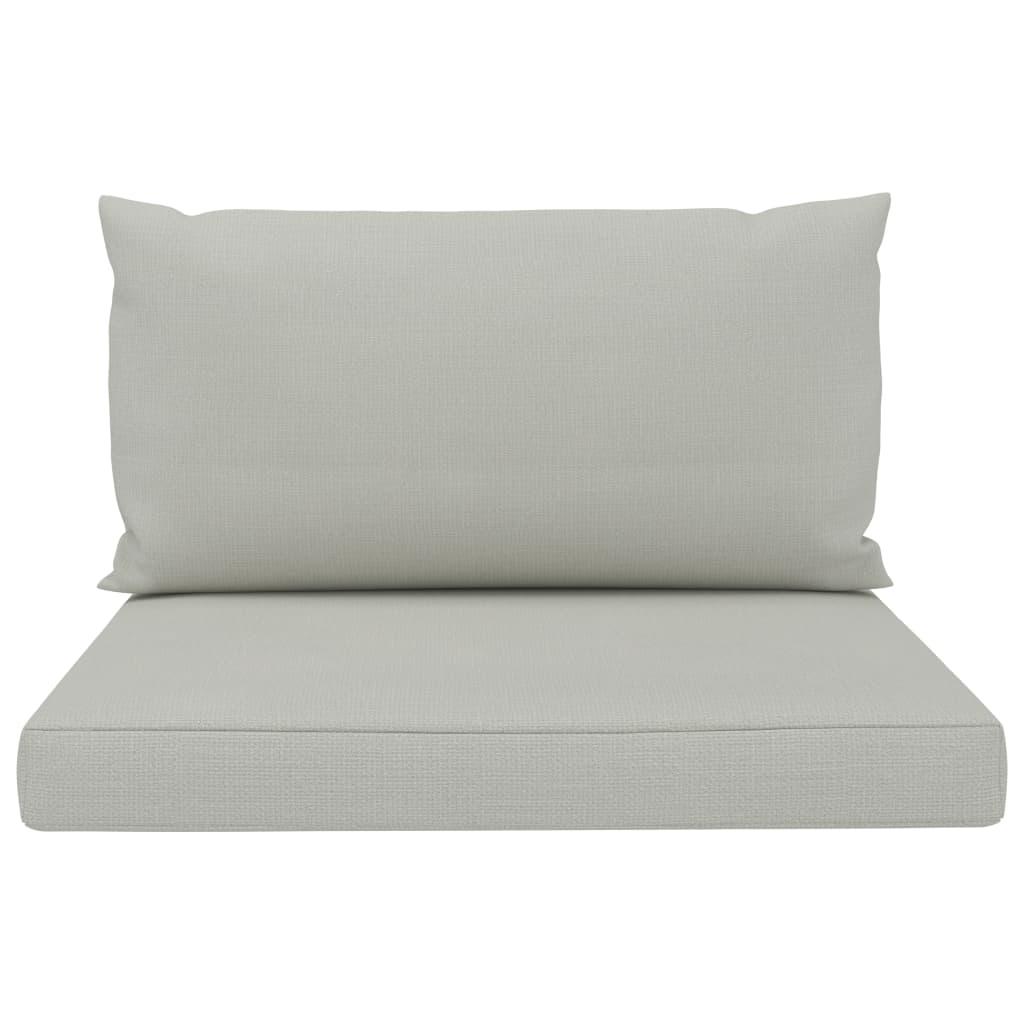 Perne de canapea din paleți, 2 buc., bej, material textil