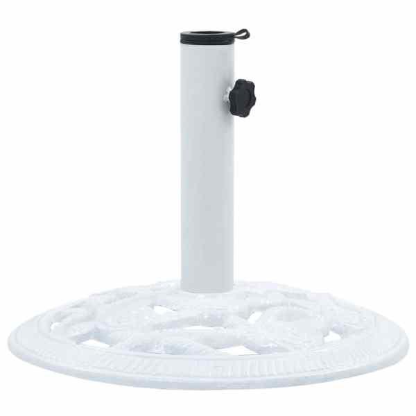 Suport de umbrelă, alb, 9 kg, fontă, 40 cm