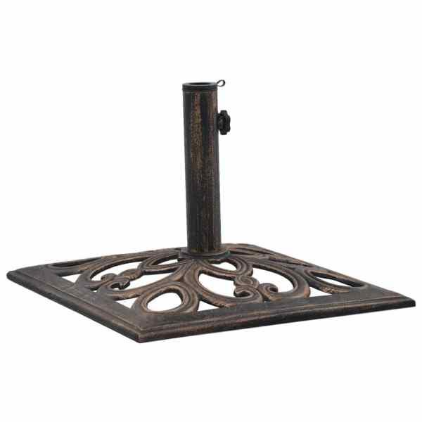 vidaXL Suport de umbrelă, bronz, 12 kg, fontă, 49 cm