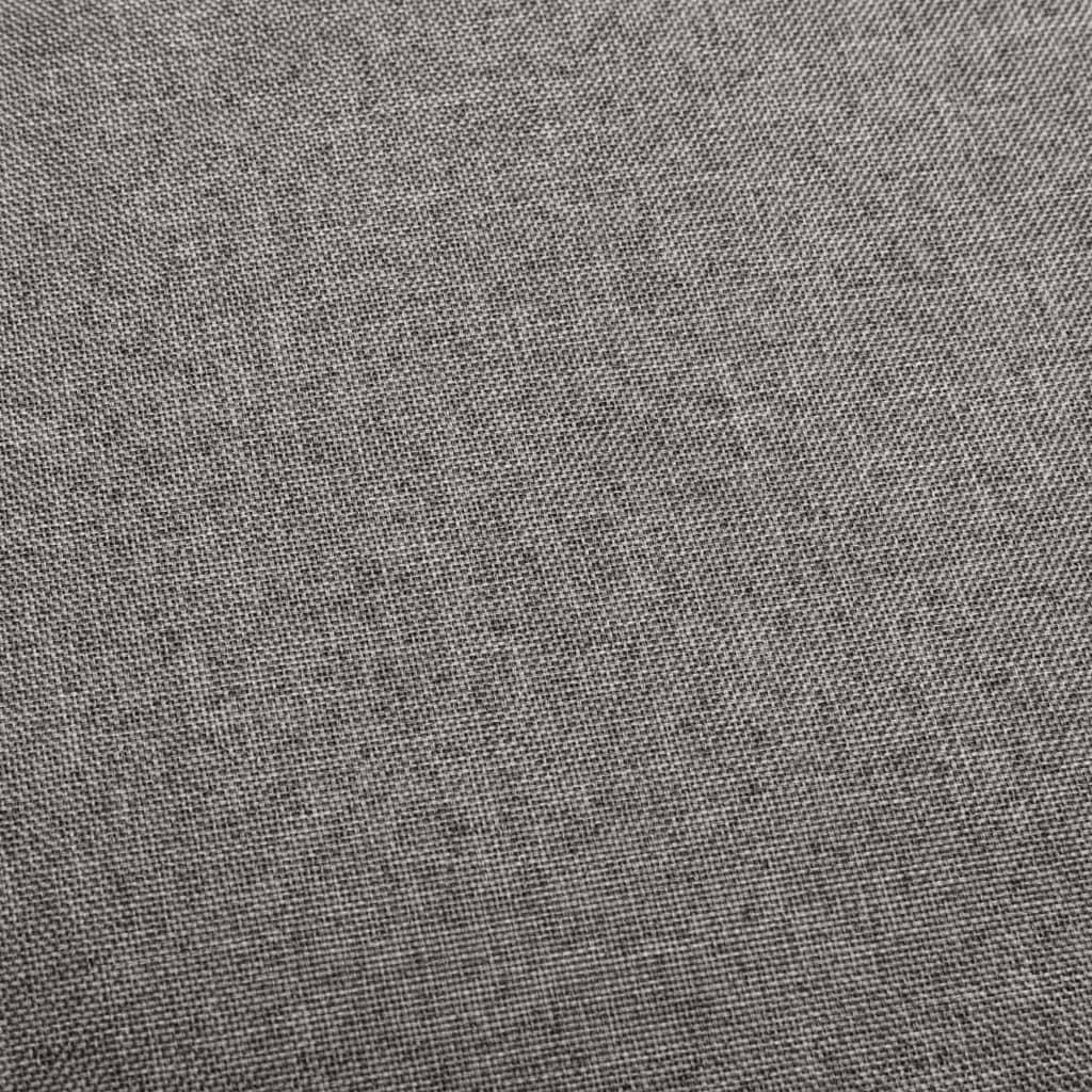 vidaXL Scaune de bar, 2 buc., gri închis, material textil
