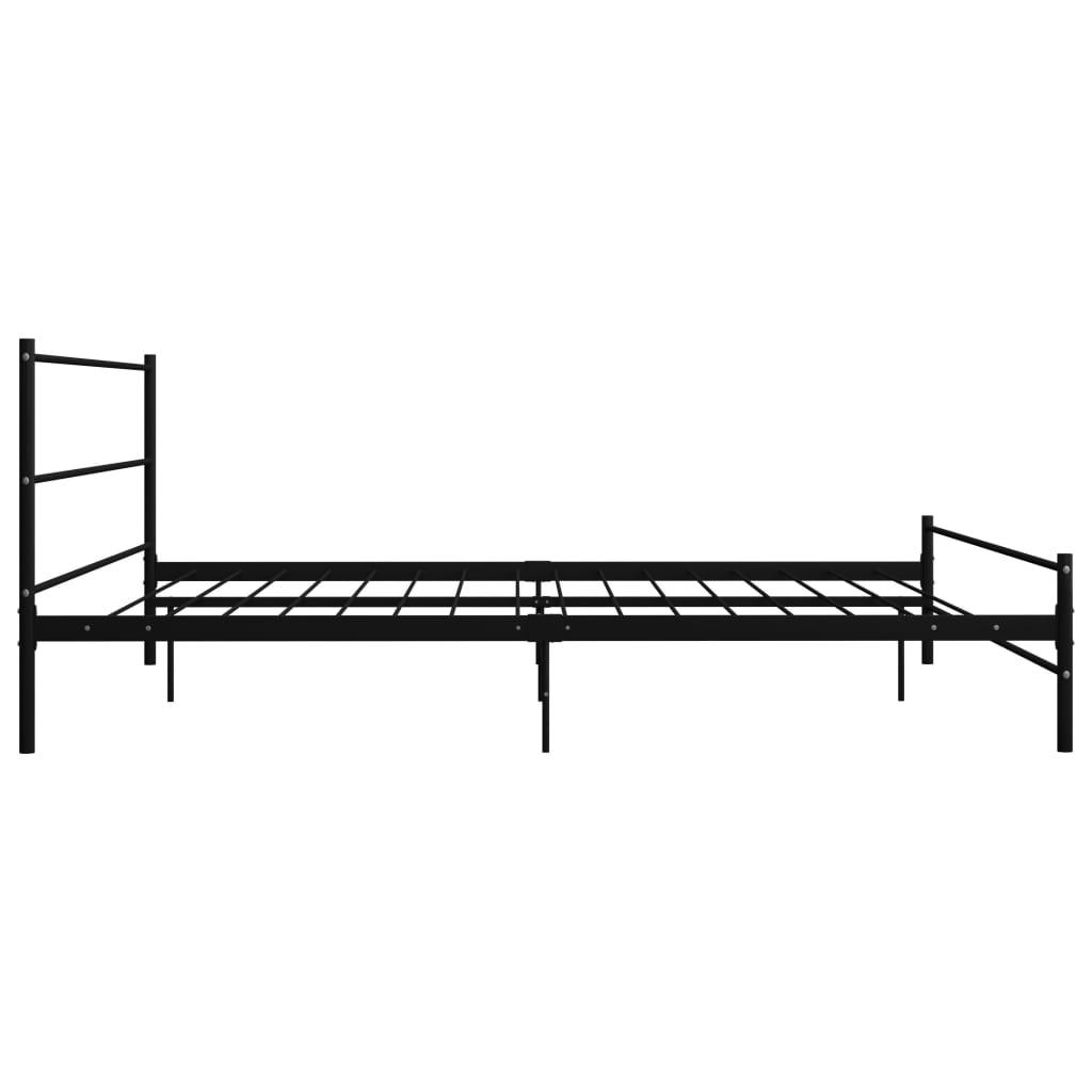 Cadru de pat, negru, 180 x 200 cm, metal