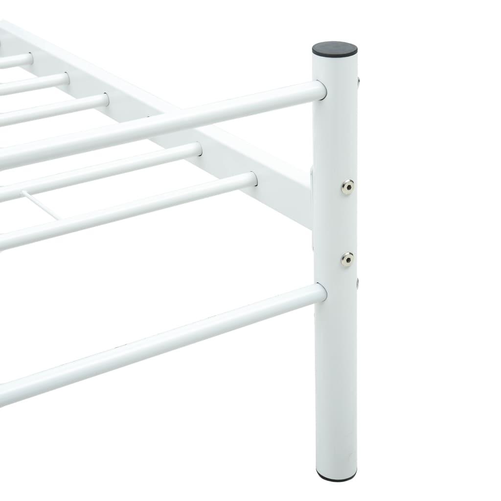 Cadru de pat, alb, 140 x 200 cm, metal