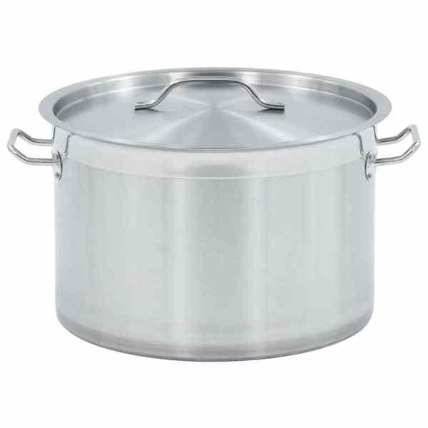 vidaXL Oală de supă, 35 x 22 cm, inox, 23 L