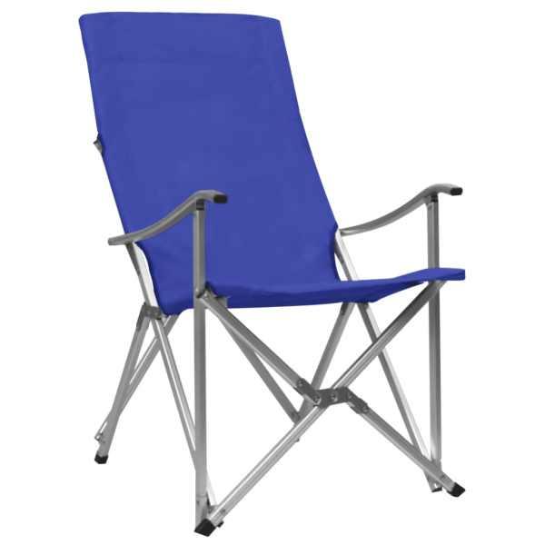 Scaune de camping pliabile, 2 buc., albastru