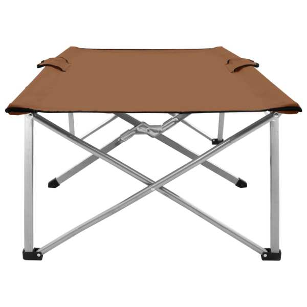 vidaXL Pat de camping, 206 x 75 x 45 cm, maro, XXL
