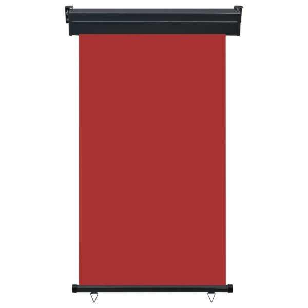 Copertină laterală de balcon, roșu, 100 x 250 cm