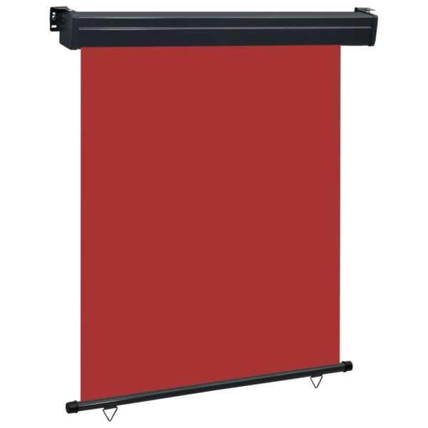 vidaXL Copertină laterală de balcon, roșu, 140 x 250 cm