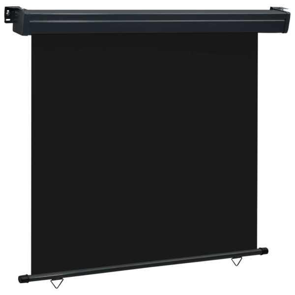 vidaXL Copertină laterală de balcon, negru, 160 x 250 cm