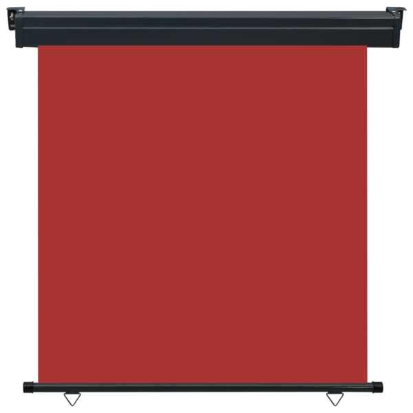 Copertină laterală de balcon, roșu, 170 x 250 cm