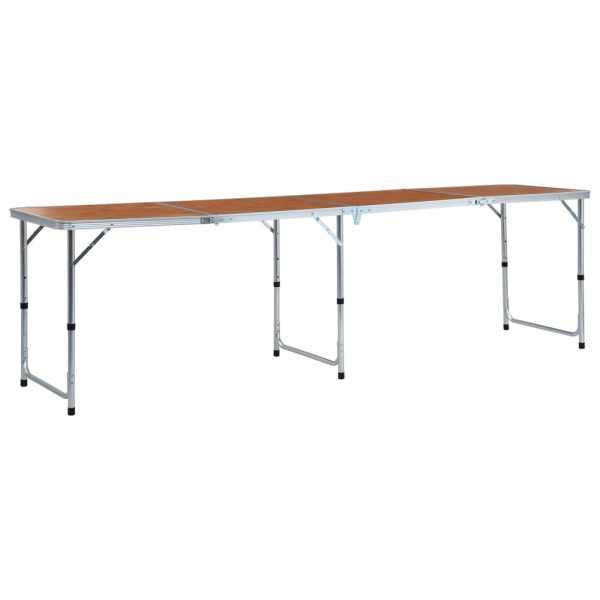 vidaXL Masă de camping pliabilă, 240 x 60 cm, aluminiu