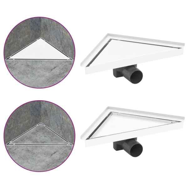 vidaXL Rigolă de duș cu capac 2-în-1, 25 x 25 cm, oțel inoxidabil