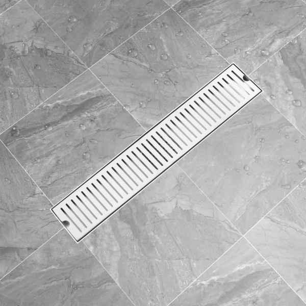 Rigolă de duș, fante, 63 x 14 cm, oțel inoxidabil