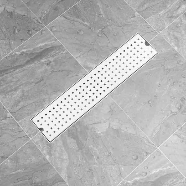 Rigolă de duș Dots, 53 x 14 cm, oțel inoxidabil