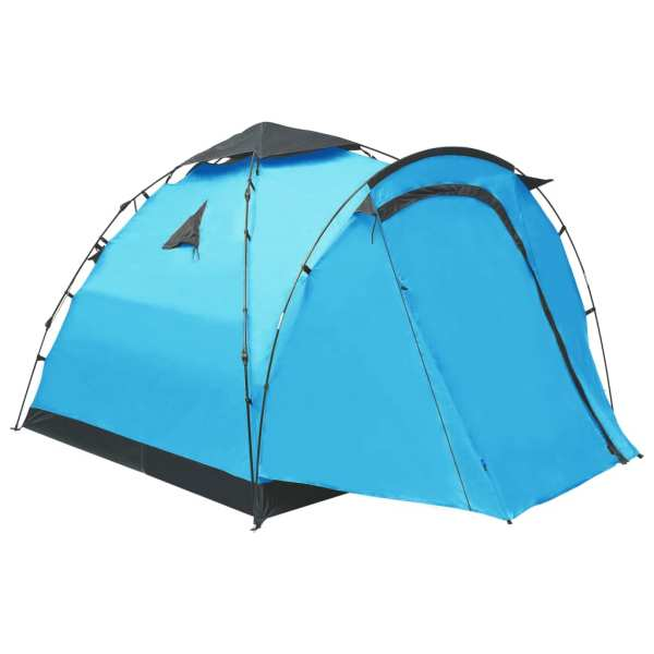 vidaXL Cort de camping tip pop-up, 3 persoane, albastru