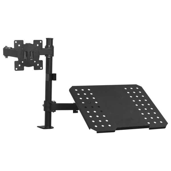 vidaXL Suport monitor laptop dublu pentru birou, ecran de 13″-23″