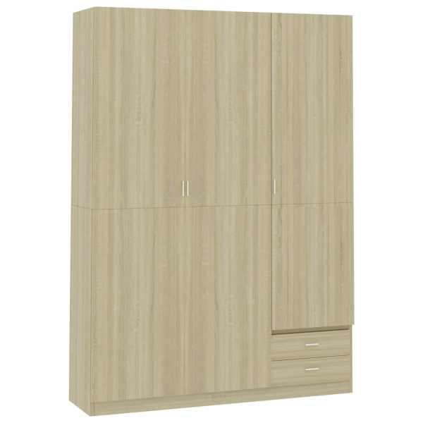 vidaXL Șifonier cu 3 uși, stejar Sonoma, 120 x 50 x 180 cm, PAL