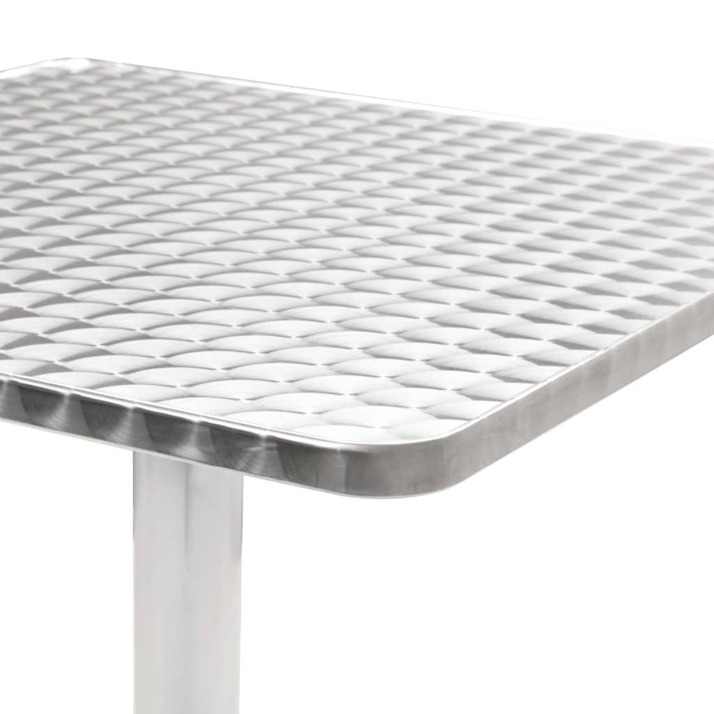 vidaXL Masă de grădină, argintiu, 60 x 60 x 70 cm, aluminiu