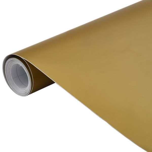 vidaXL Folie auto, auriu, 500 x 152 cm