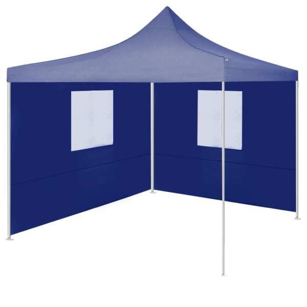 vidaXL Cort de petrecere pliabil cu 2 pereți, albastru, 2 x 2 m, oțel