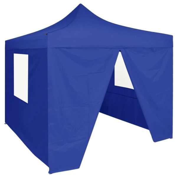 vidaXL Cort de petrecere pliabil cu 4 pereți, albastru, 2 x 2 m, oțel