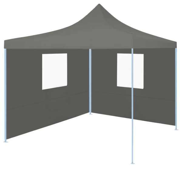 vidaXL Cort de petrecere pliabil cu 2 pereți, antracit, 2 x 2 m, oțel