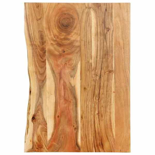 vidaXL Blat lavoar de baie, 80 x 55 x 2,5 cm, lemn masiv de acacia