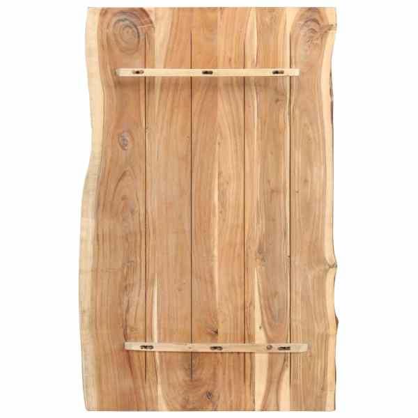Blat de masă, 100x60x3,8 cm, lemn masiv de acacia