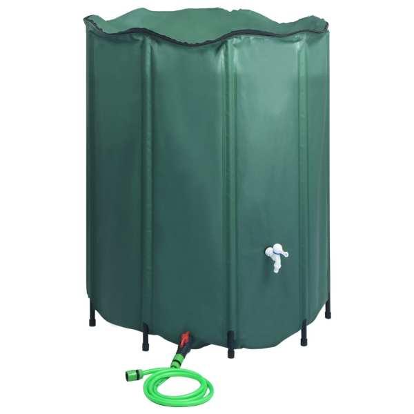 vidaXL Rezervor de apă de ploaie rabatabil cu cep, 1000 L